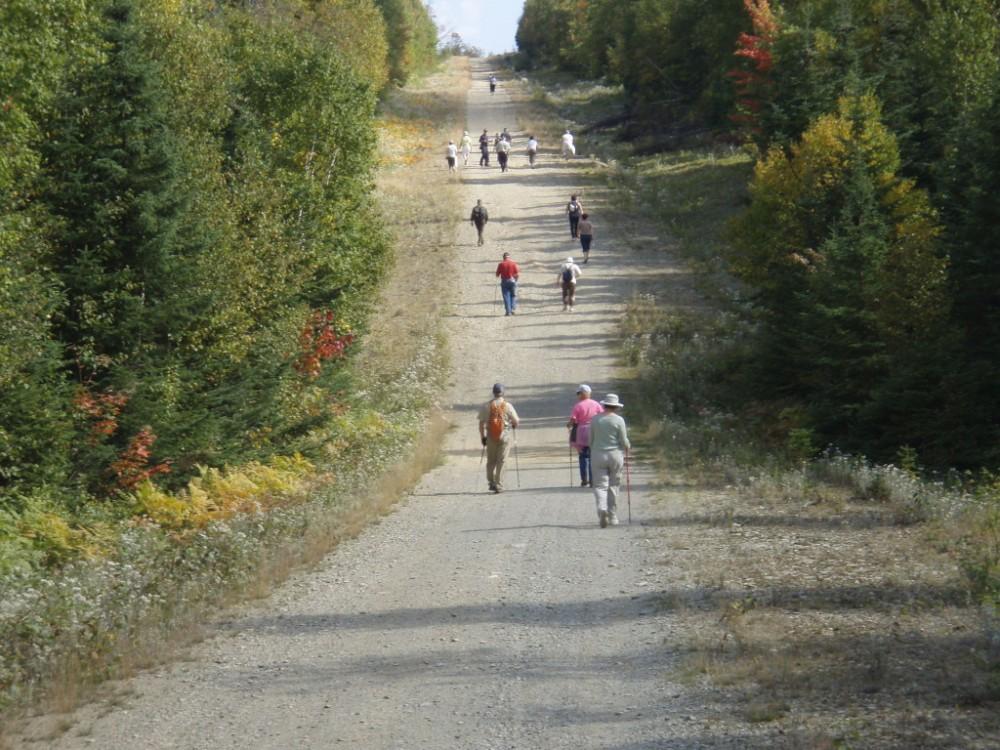 Marcheurs sur le chemin Kempt, septembre 2009